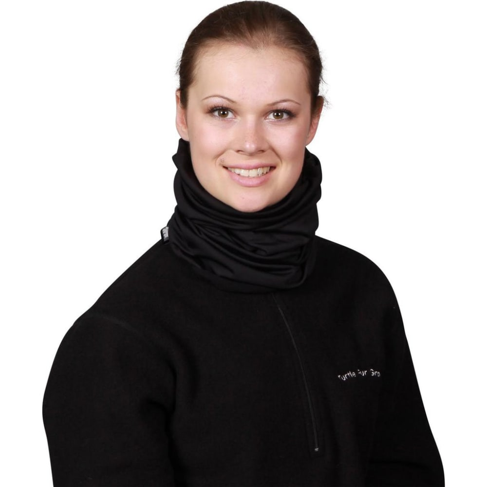TURTLE FUR Unisex Solid Totally Tubular Comfort Shell Neck Warmer - BLACK