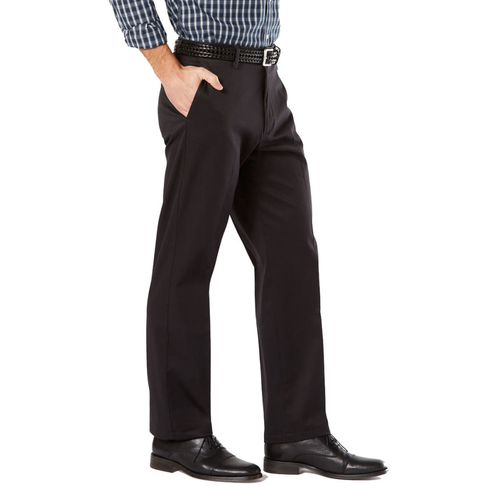 DOCKERS Men's Signature Stretch Khaki, Classic Fit Pants - BLACK 0000