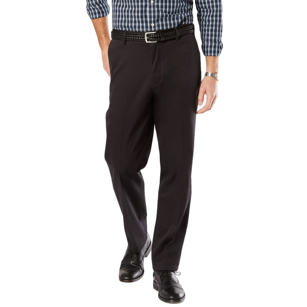 DOCKERS Men's Signature Stretch Khaki, Classic Fit Pants - BLACK 0000