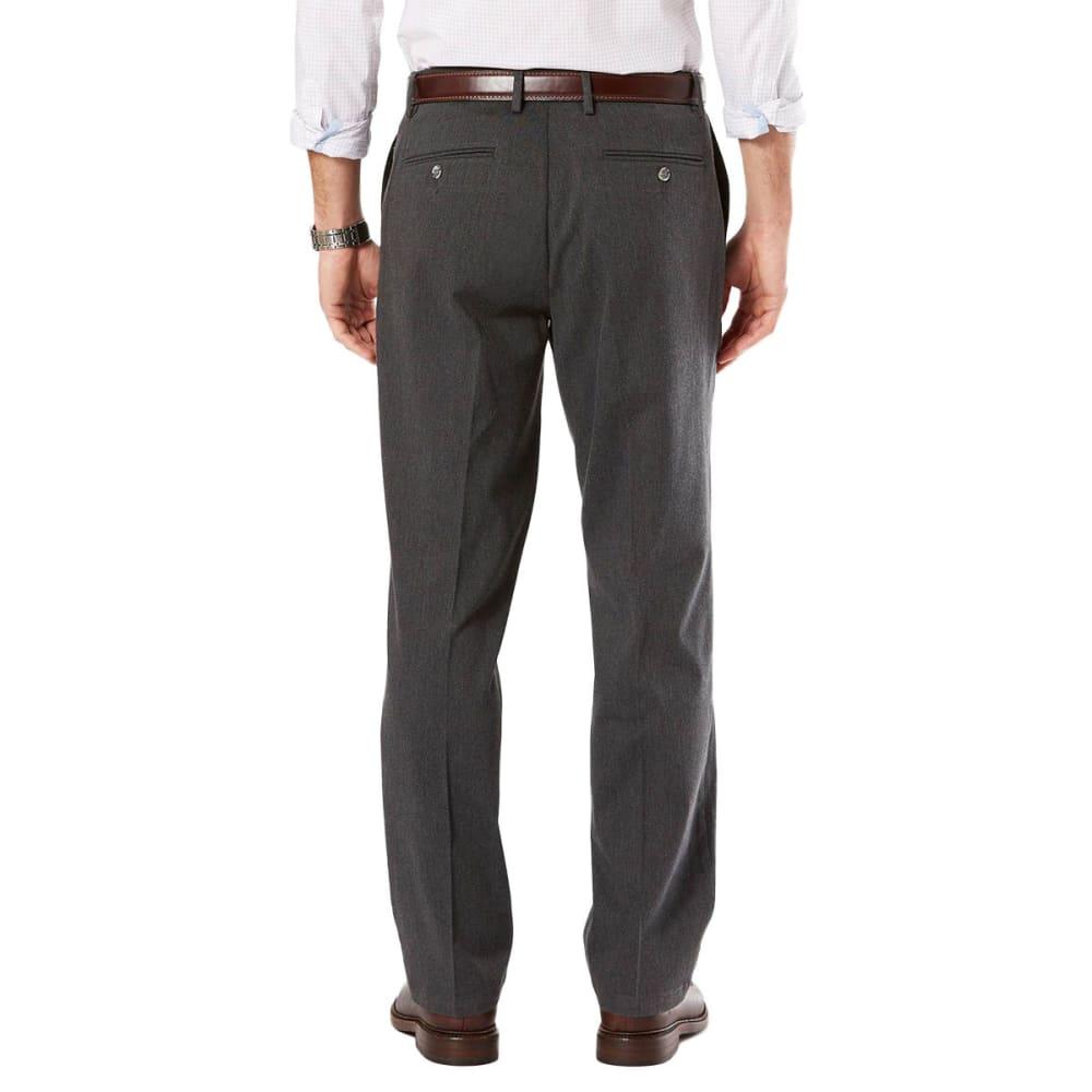 DOCKERS Men's Signature Stretch Khaki, Classic Fit Pants - CHAR HTR 0006