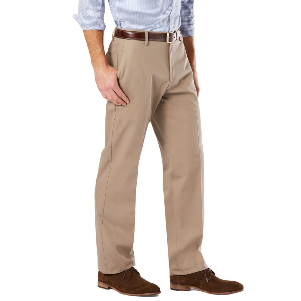 DOCKERS Men's Signature Stretch Khaki, Classic Fit Pants - TIMBERWOLF 0002