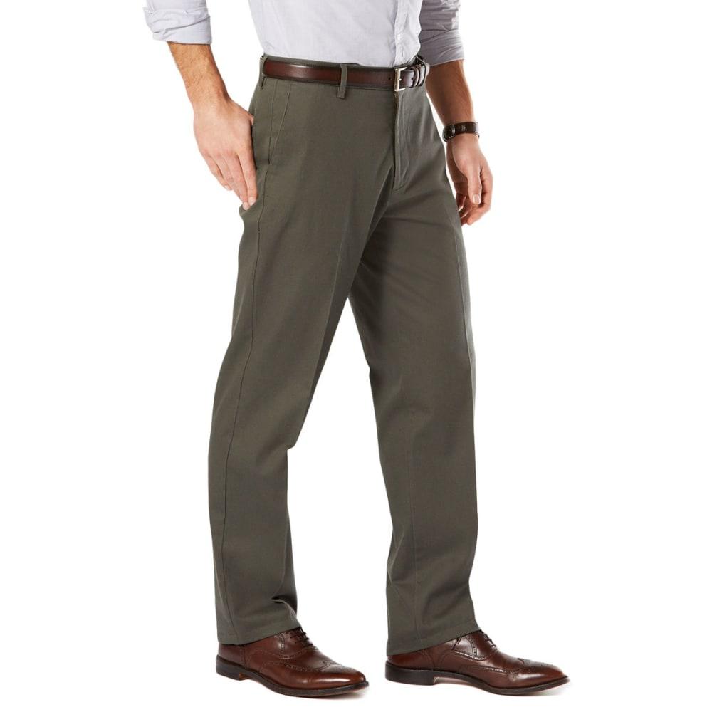 DOCKERS Men's Signature Stretch Khaki, Classic Fit Pants - OLIVE GROVE 0005