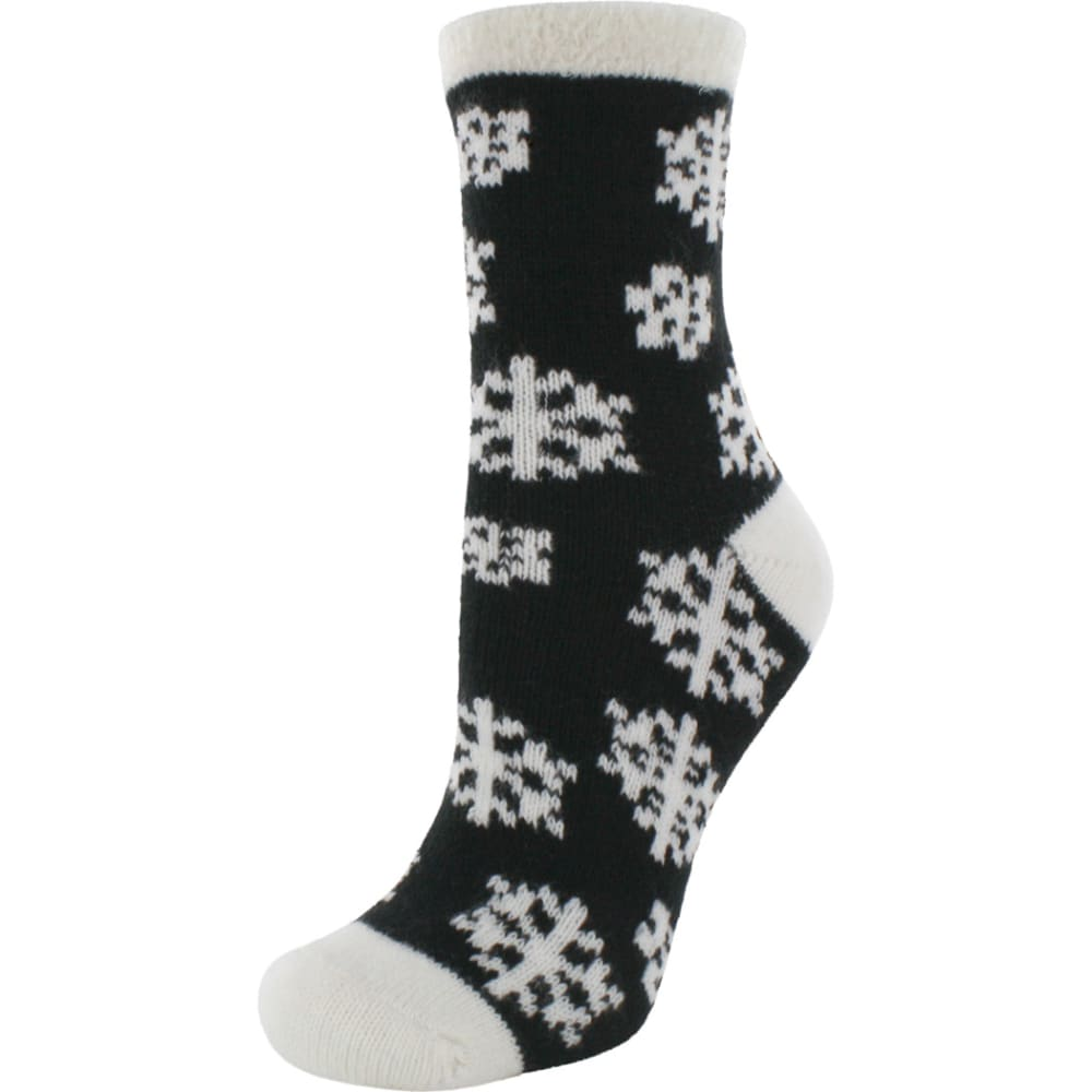 SOF SOLE Women's Fireside Indoor Snowflake Socks - BLACK/CRM