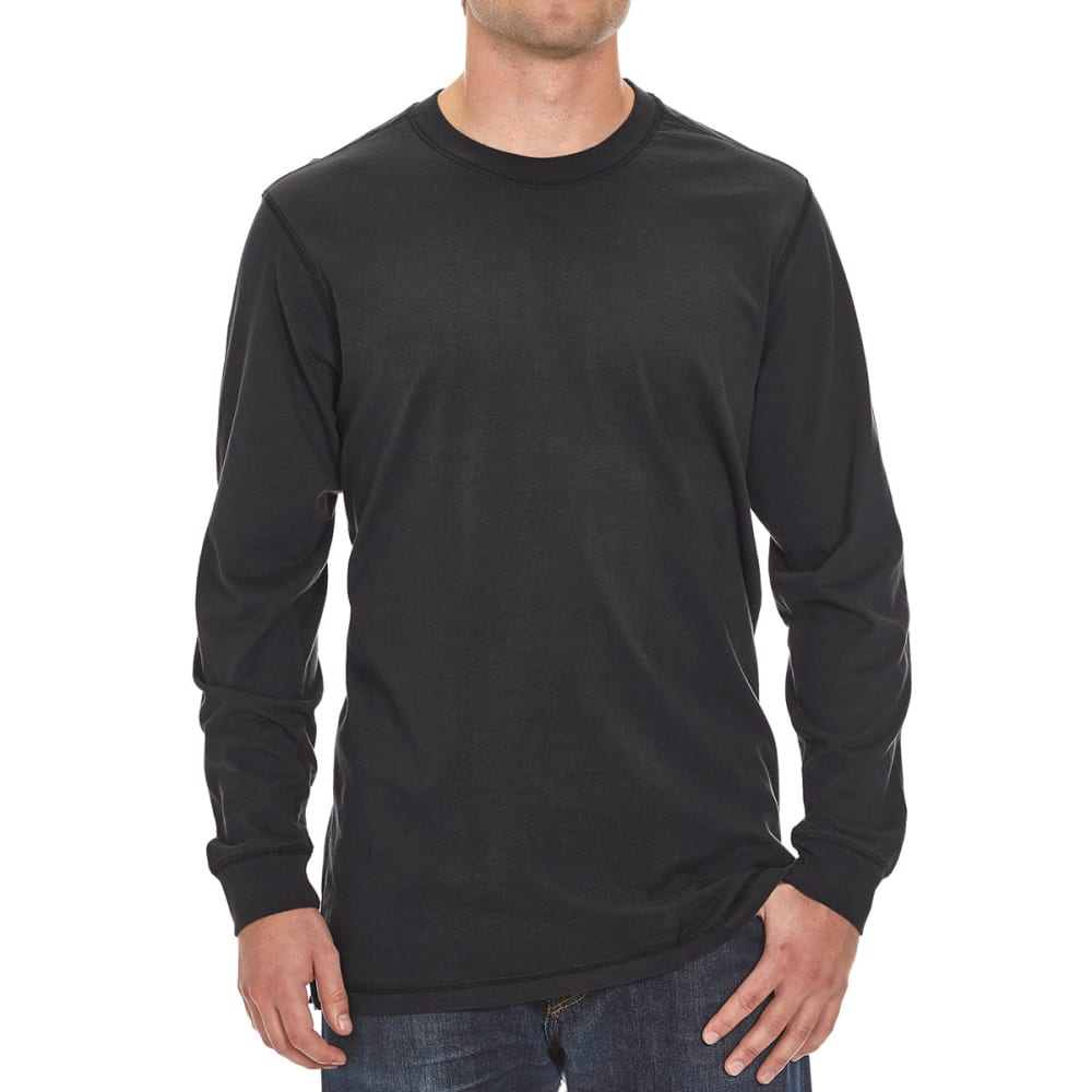 RUGGED TRAILS Men's Sueded Crewneck Tee - BLACK