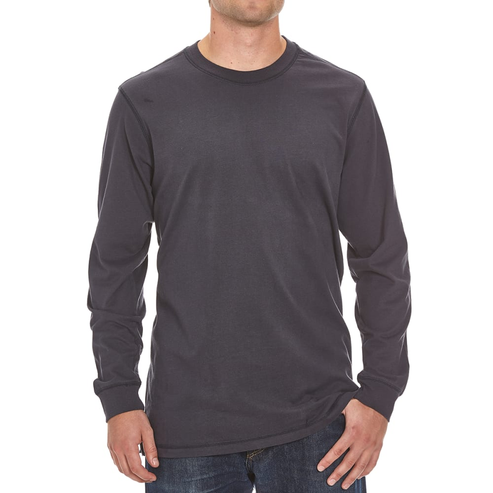 RUGGED TRAILS Men's Sueded Crewneck Tee - NAVY