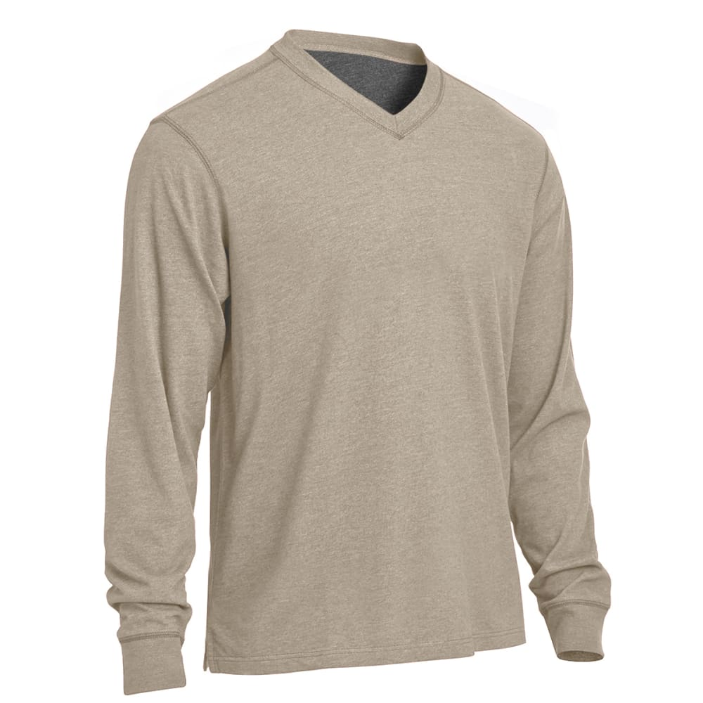 RUGGED TRAILS Men's Sueded V-Neck Tee S