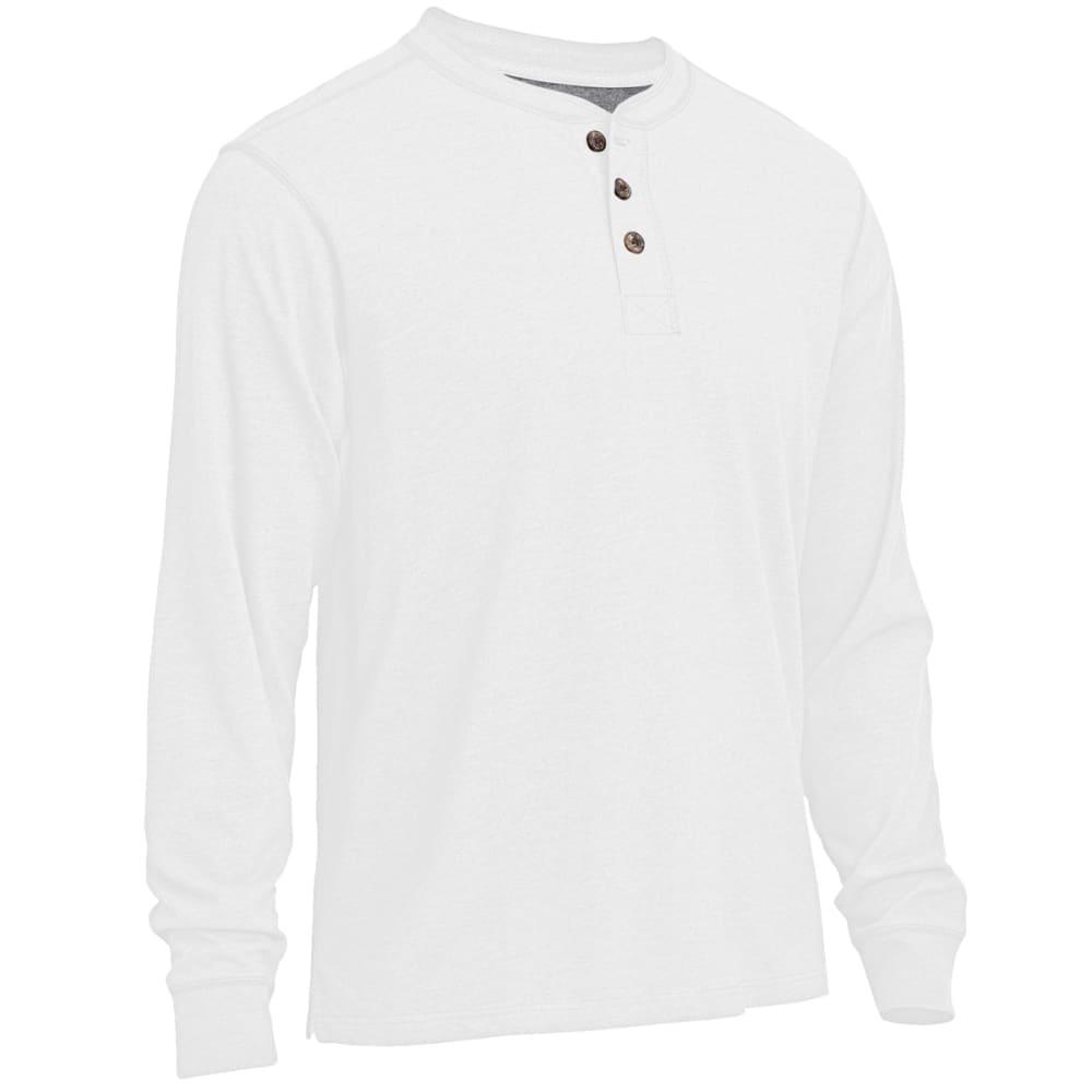 RUGGED TRAILS Men's Sueded Henley Shirt - WHITE