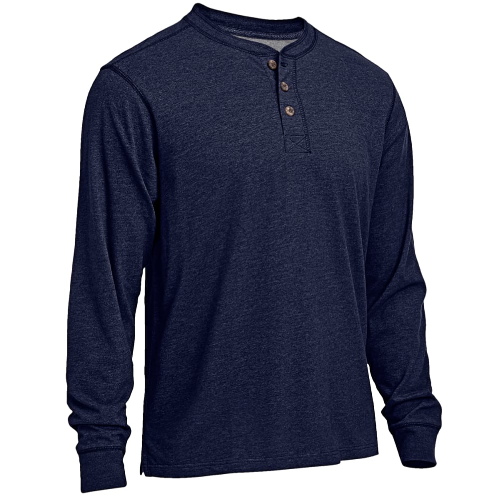 RUGGED TRAILS Men's Sueded Henley Shirt - NAVY