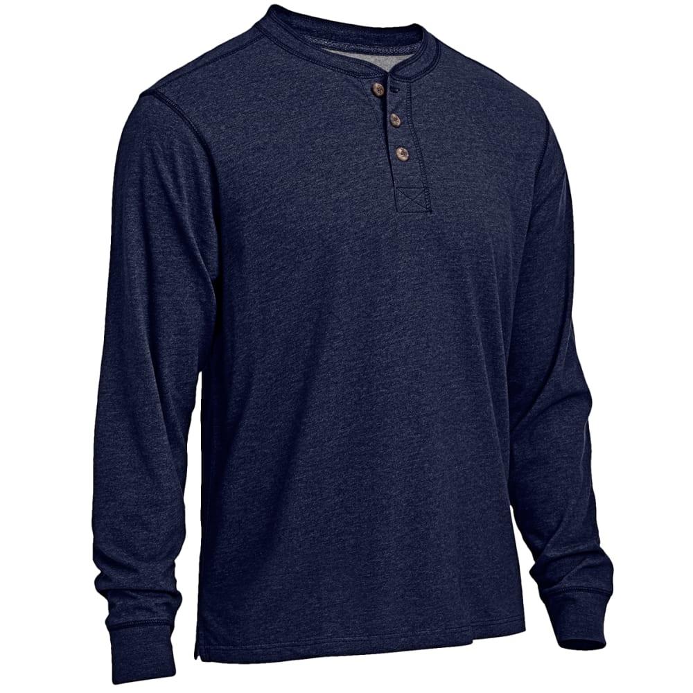 RUGGED TRAILS Men's Sueded Henley Shirt - NAVY