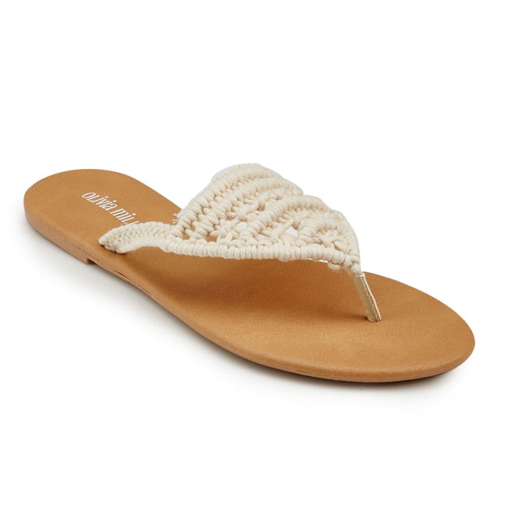 OLIVIA MILLER Women's Crochet Sandals - IVORY