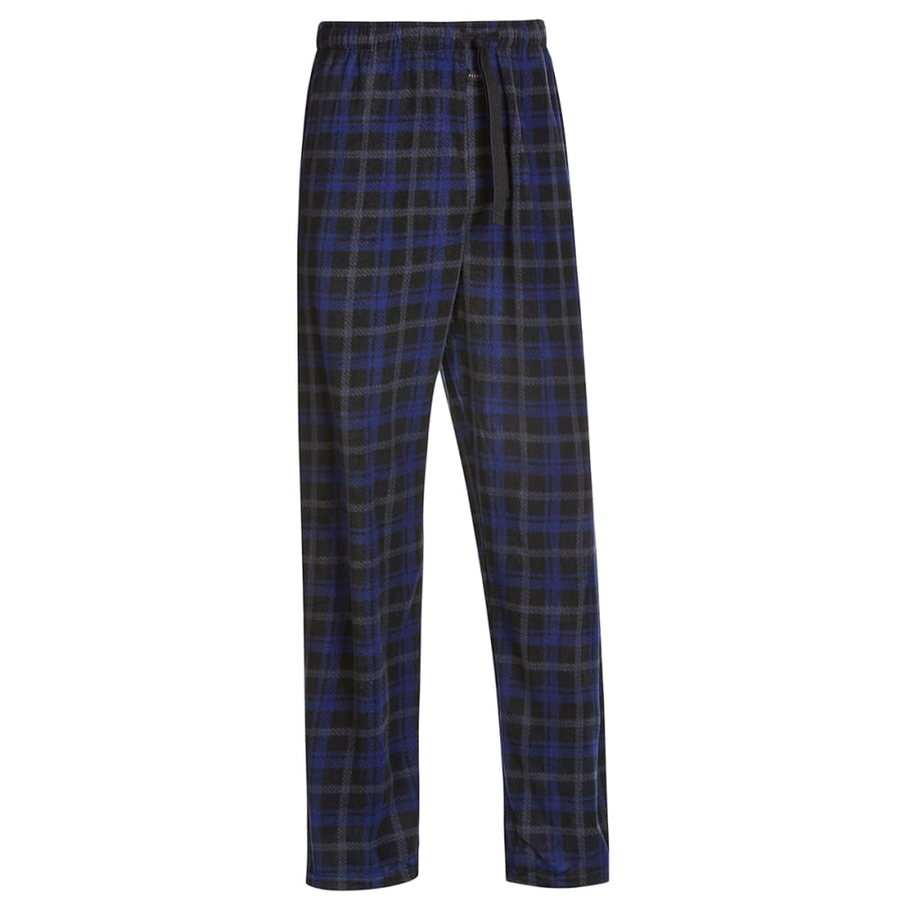 PERRY ELLIS Men's Microfleece Sleep Pants - BLK/ROYAL 968