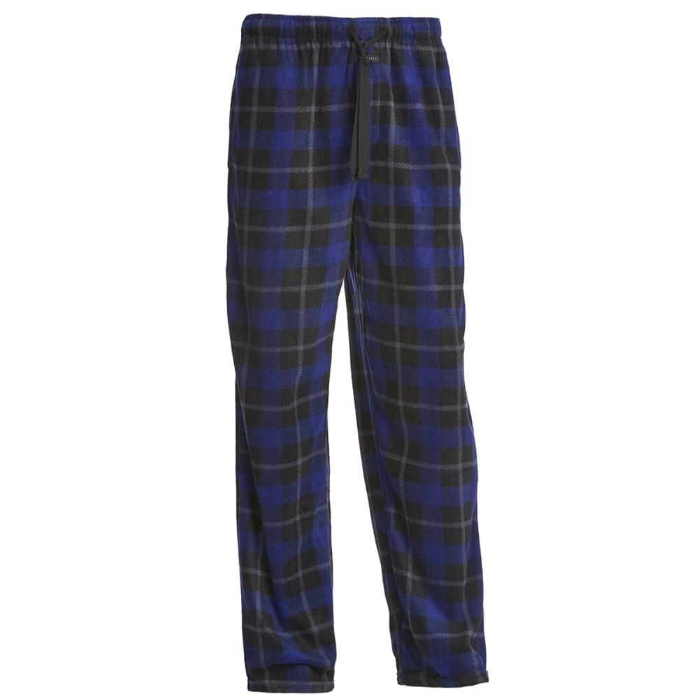 PERRY ELLIS Men's Microfleece Sleep Pants - BLK/BLUE 968