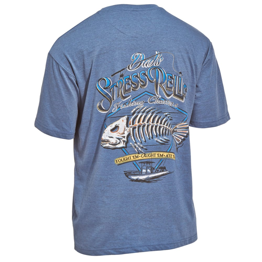 NEWPORT BLUE Men's Dad's Stress Relief Tee - 496-HEATHER OCEAN