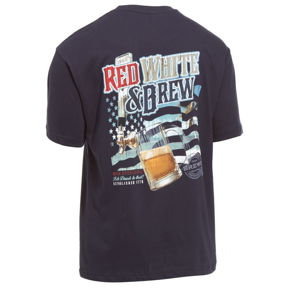 NEWPORT BLUE Men's Red White and Brew Tee - 417-NAVY