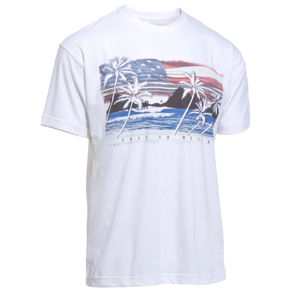NEWPORT BLUE Men's Freedom to Relax Tee - 120-WHITE