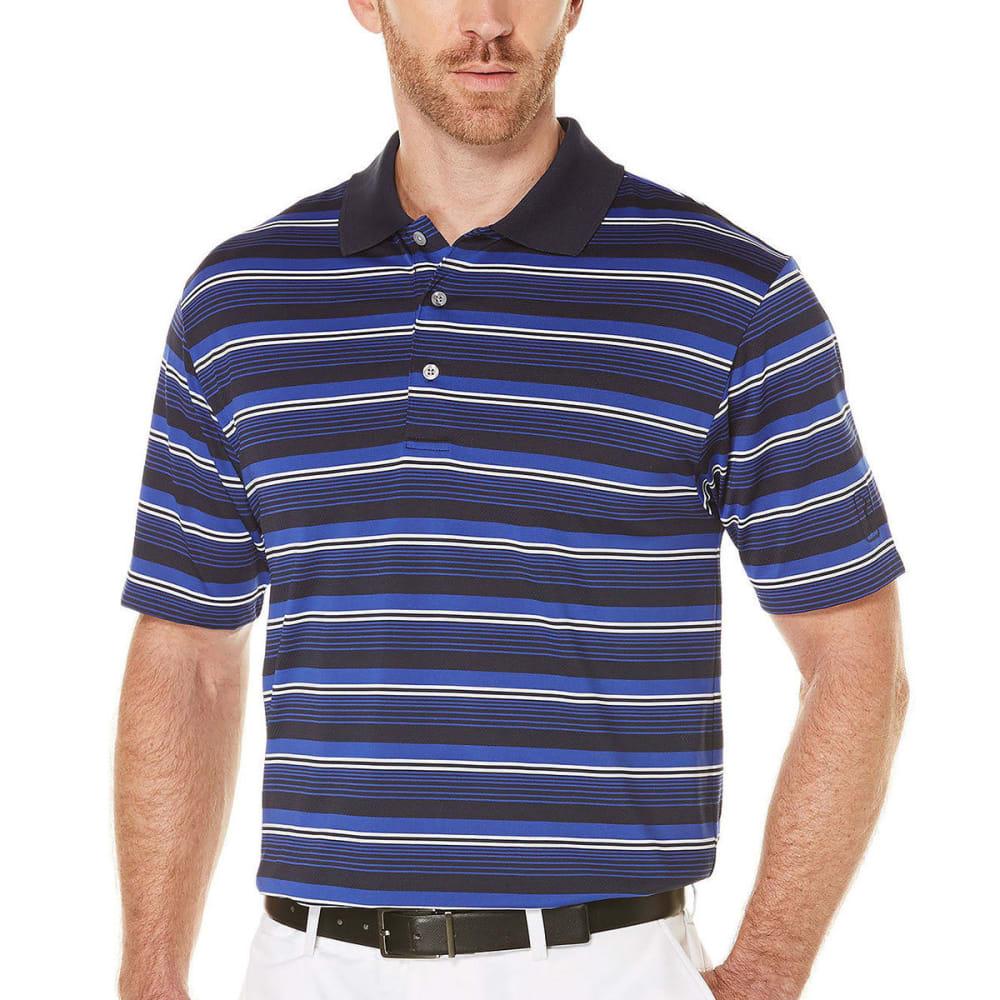 PGA TOUR APPAREL Men's Airflux Stripe Polo - TRUE NAVY-412