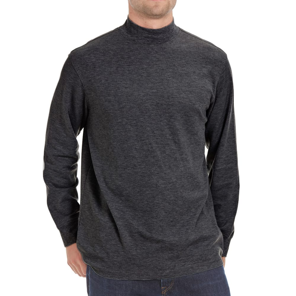 NORTH HUDSON Men's Mock Neck Shirt - CHARCOAL