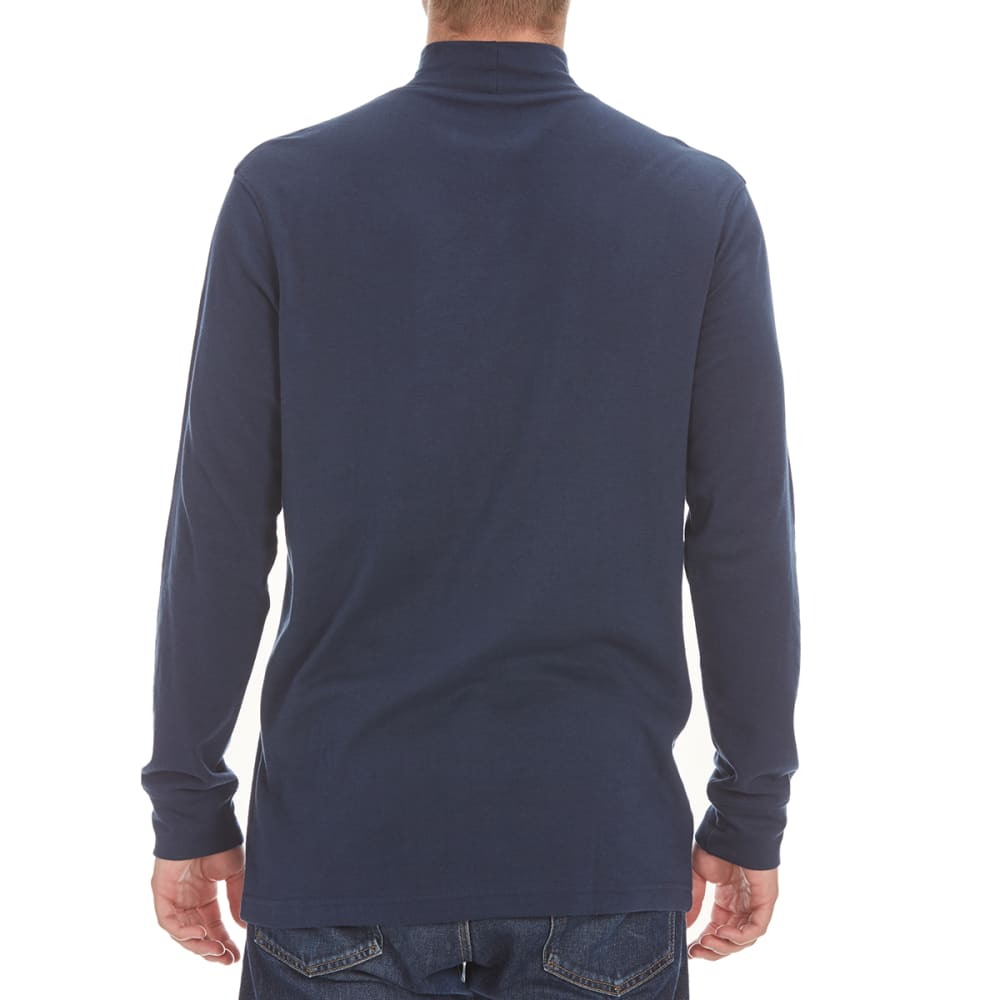 NORTH HUDSON Men's Mock Neck Shirt - NAVY