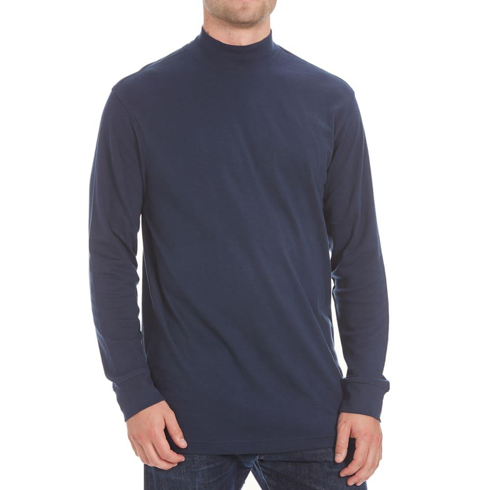 NORTH HUDSON Men's Mock Neck Shirt - NAVY