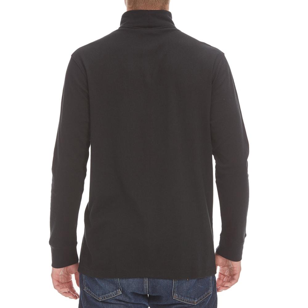 NORTH HUDSON Men's Turtleneck Shirt - BLACK