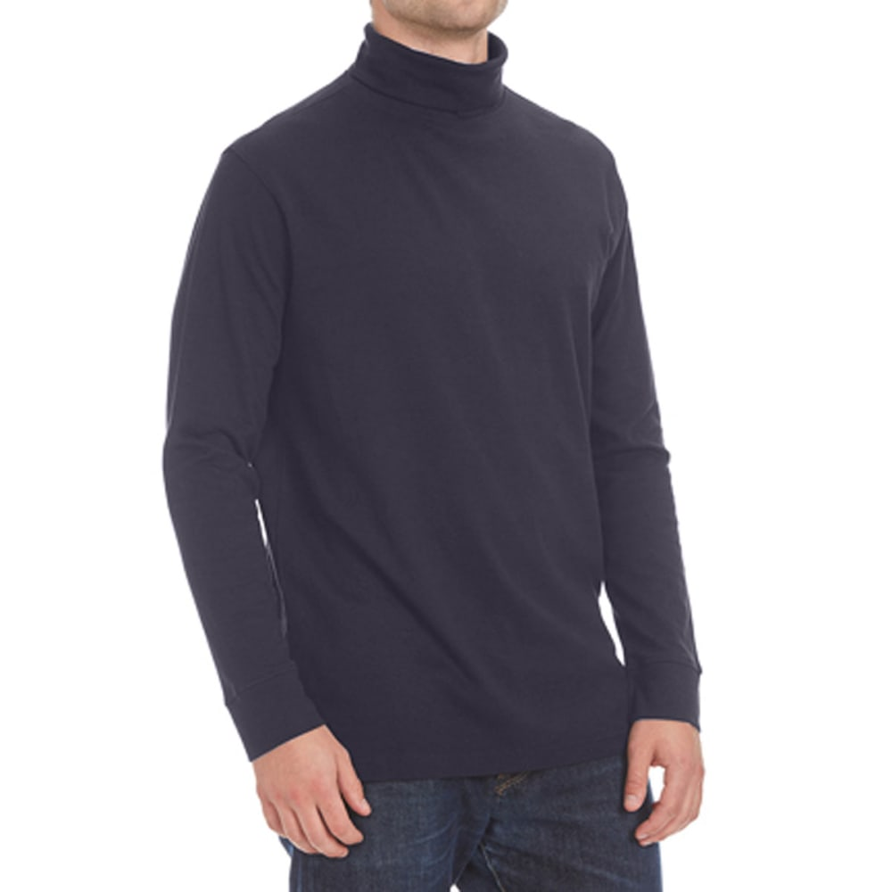 NORTH HUDSON Men's Turtleneck Shirt - NAVY