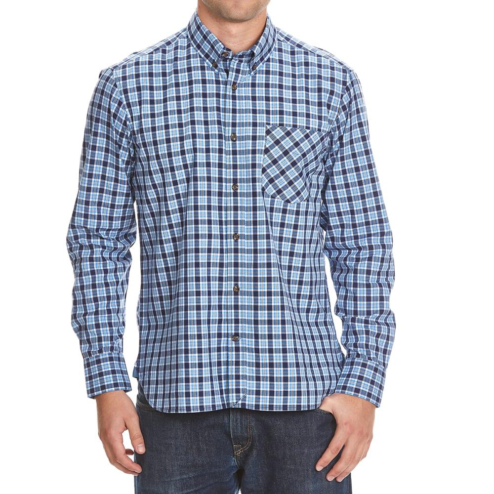 NORTH HUDSON Men's Folded Woven Shirt - 072-NAVY PLAD