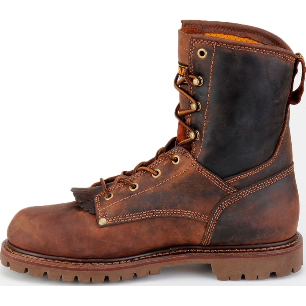"CAROLINA Men's CA8028 Extra Wide 8"" Waterproof Work Boots, Kharthoum Cigar - BROWN"