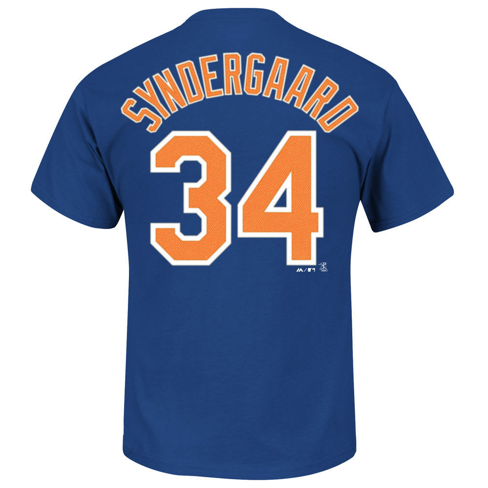 NEW YORK METS Men's Syndergaard #34 Home Short-Sleeve Tee - ROYAL BLUE