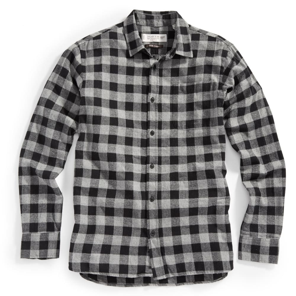 NORTH HUDSON Men's Flannel Shirt - 001-BUFFALO BLK/GRY