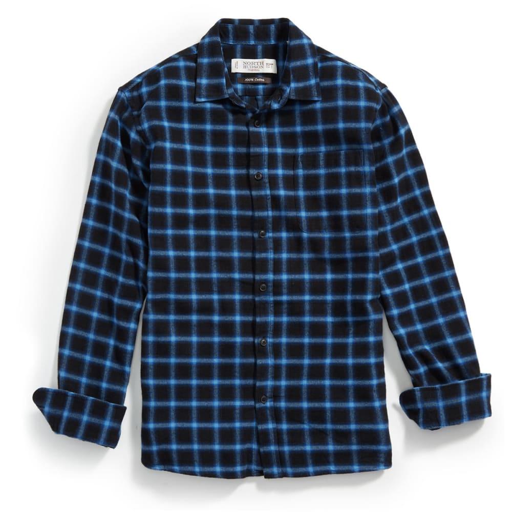 NORTH HUDSON Men's Flannel Shirt - 004-MACDUFF NAVY
