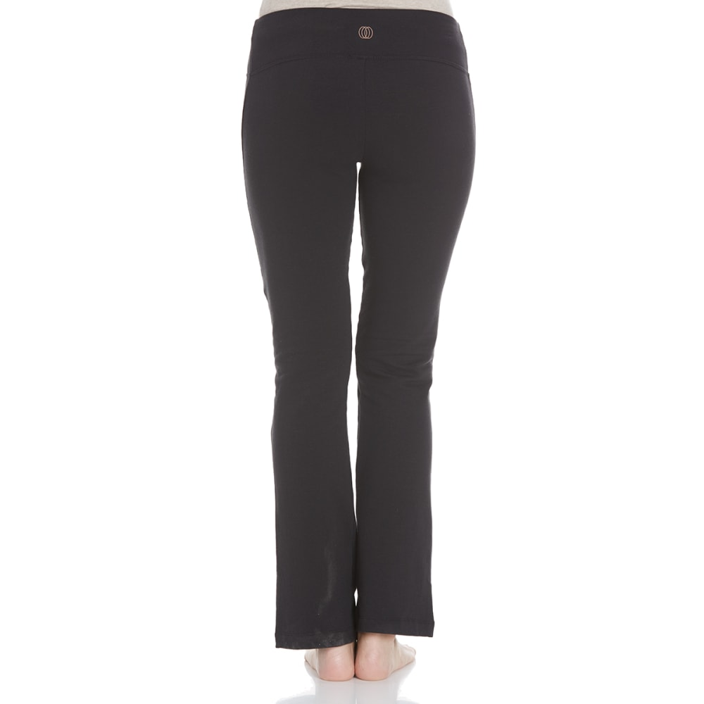 BALANCE COLLECTION BY MARIKA Women's Flat Waist Fleece Pants - BLACK-001