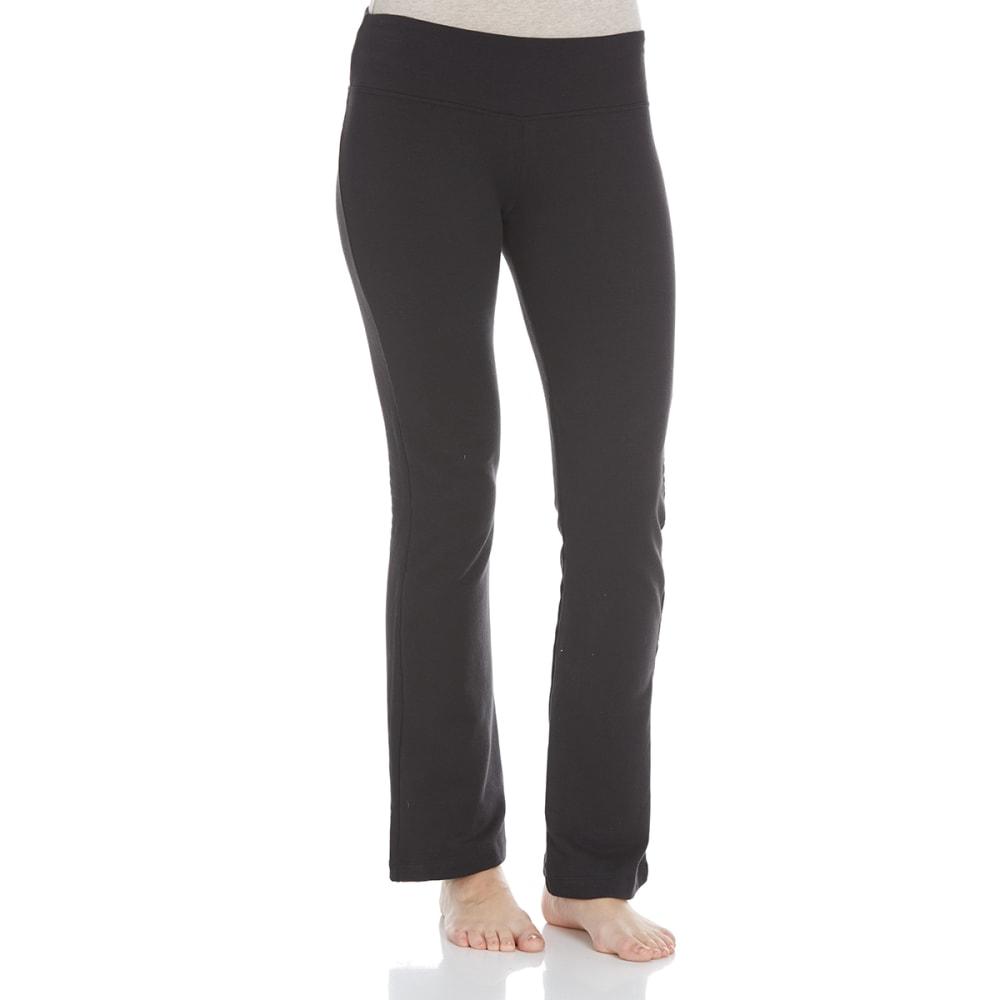 BALANCE COLLECTION BY MARIKA Women's Flat Waist Fleece Pants - BLACK-001
