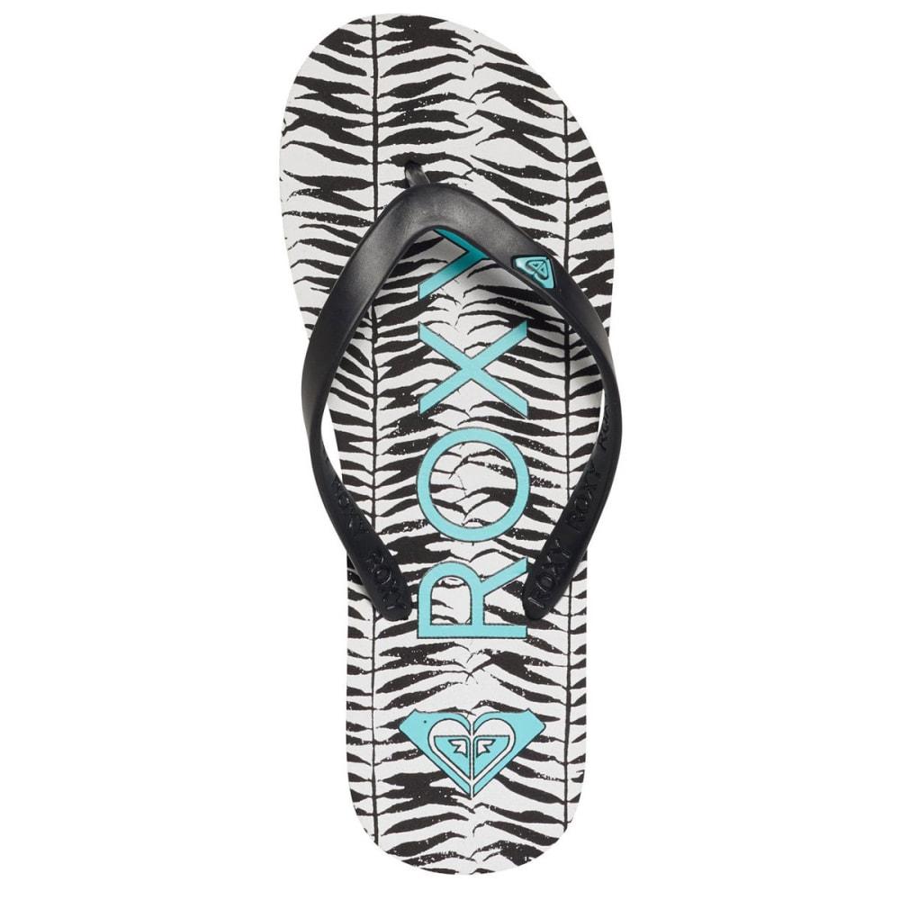 ROXY Women's Tahiti V Flip Flops - BLACK/AQUA