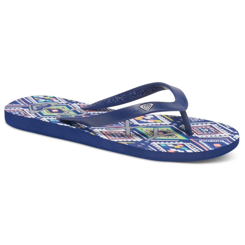 ROXY Women's Tahiti V Flip Flops - DARK BLUE