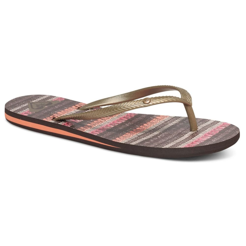 ROXY Women's Bermuda Sandals - BROWN