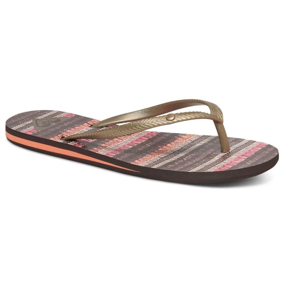 ROXY Women's Bermuda Sandals - BROWN