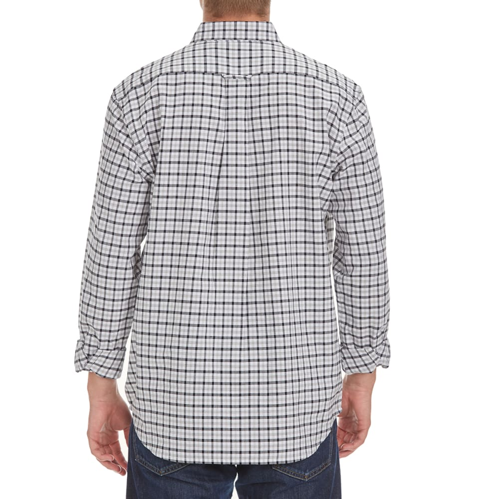 NATURAL BASIX Men's Oxford Check Shirt - BLACK