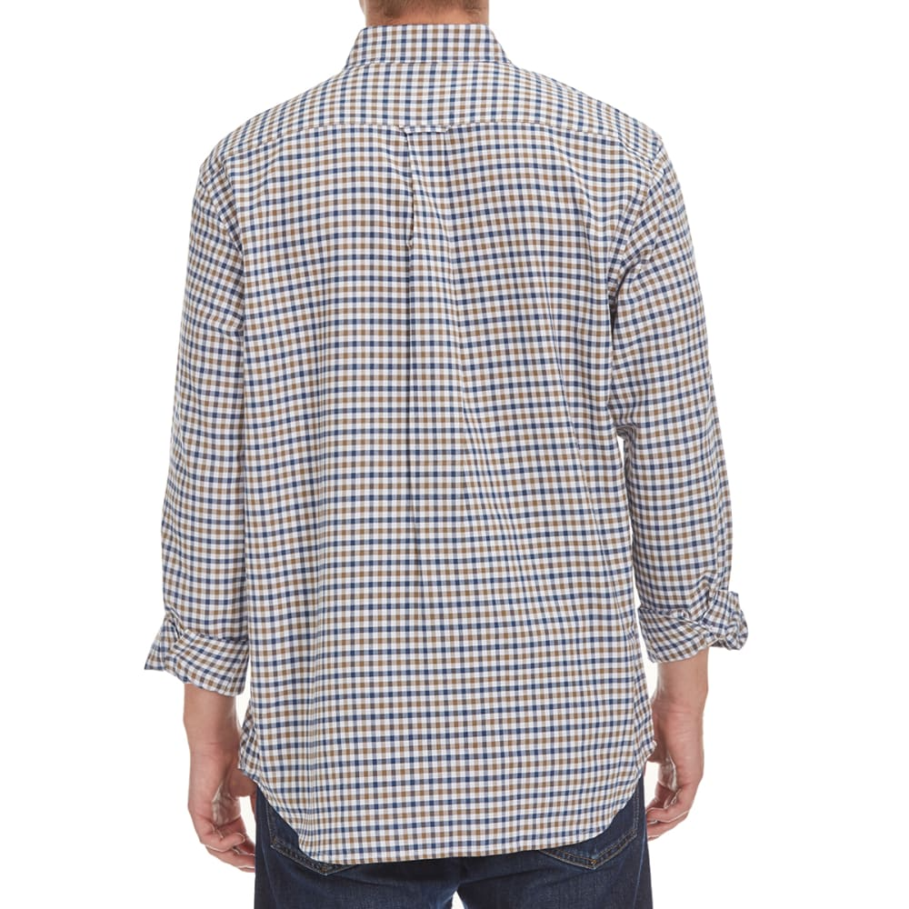 NATURAL BASIX Men's Oxford Check Shirt - AIRFORCE BLUE