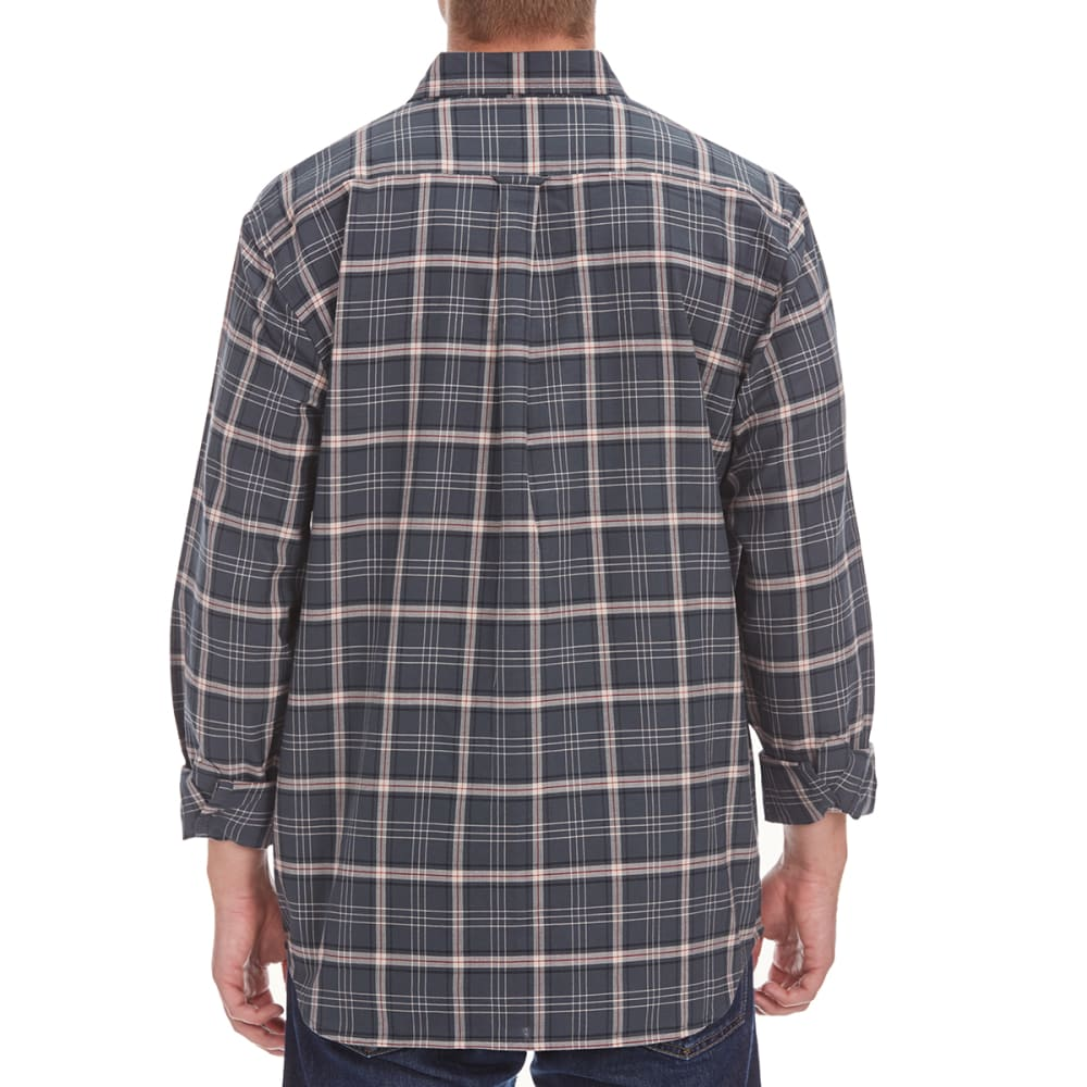 NATURAL BASIX Men's Balanced Plaid Shirt - GREY PLAID