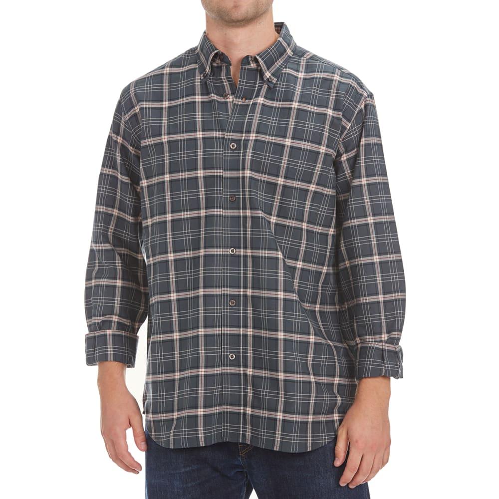 NATURAL BASIX Men's Balanced Plaid Shirt - GREY PLAID