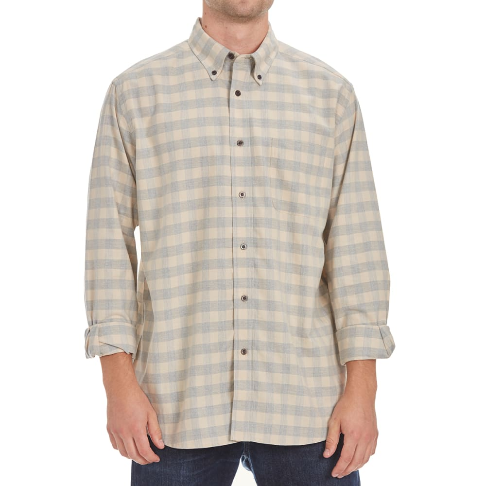 NATURAL BASIX Men's Buffalo Plaid Shirt - STONE