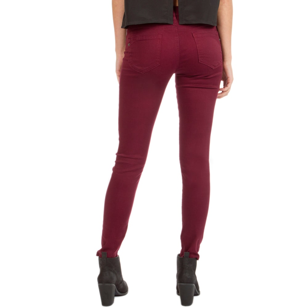 UNIONBAY Juniors' Karma 5-Pocket Hyperstretch Pants - 644J CABERNET