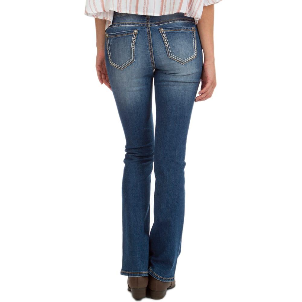 UNIONBAY Juniors' Kacey Five-Pocket Boot Cut Jeans - 468J GLACIER