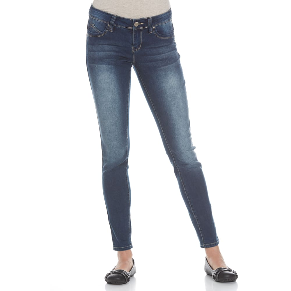 YMI Juniors' Wanna Betta Butt Five-Pocket Skinny Jeans - N02-DRK WASH