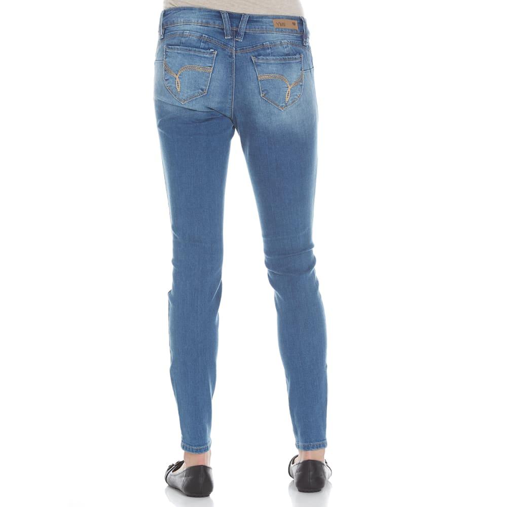 YMI Juniors' Wanna Betta Butt Five-Pocket Skinny Jeans - M02-MED WASH