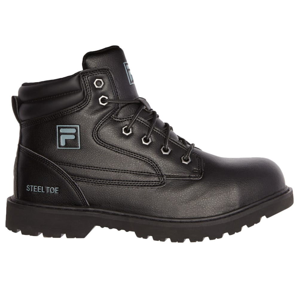 FILA Men's Landing Steel Work Shoes - 001 BLACK
