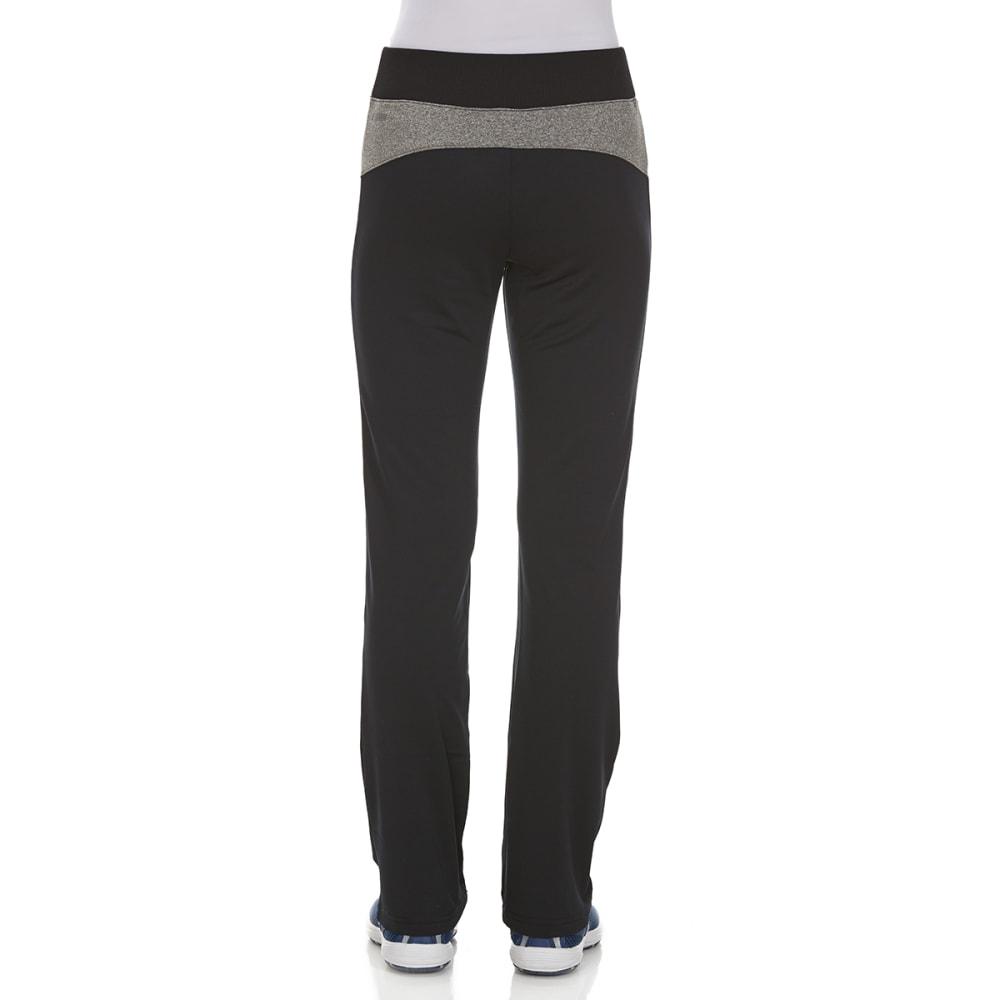 RBX Girls' Cotton/Spandex Yoga Pants - BLACK