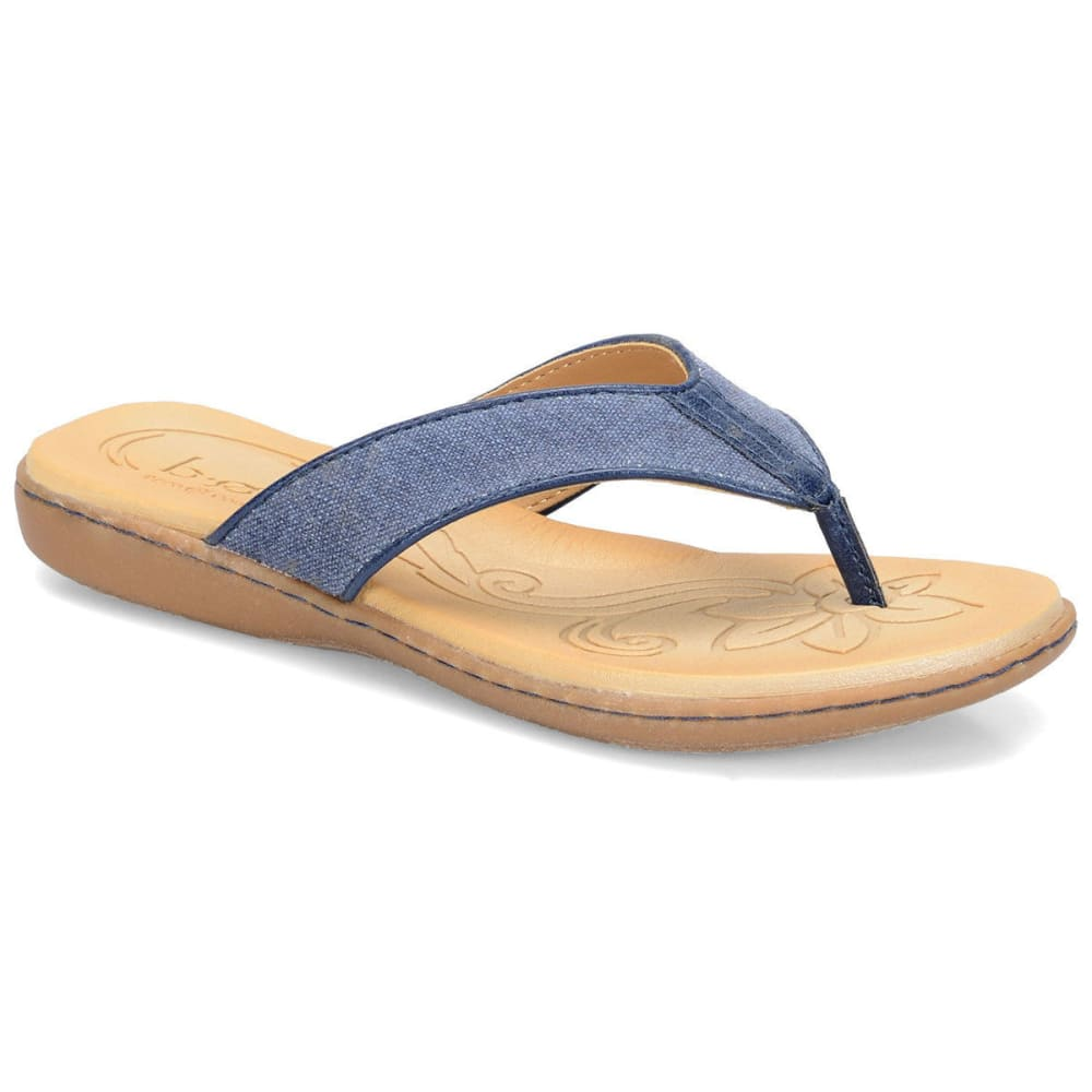 B.O.C. Women's Zeva Canvas Flip Flops - NAVY