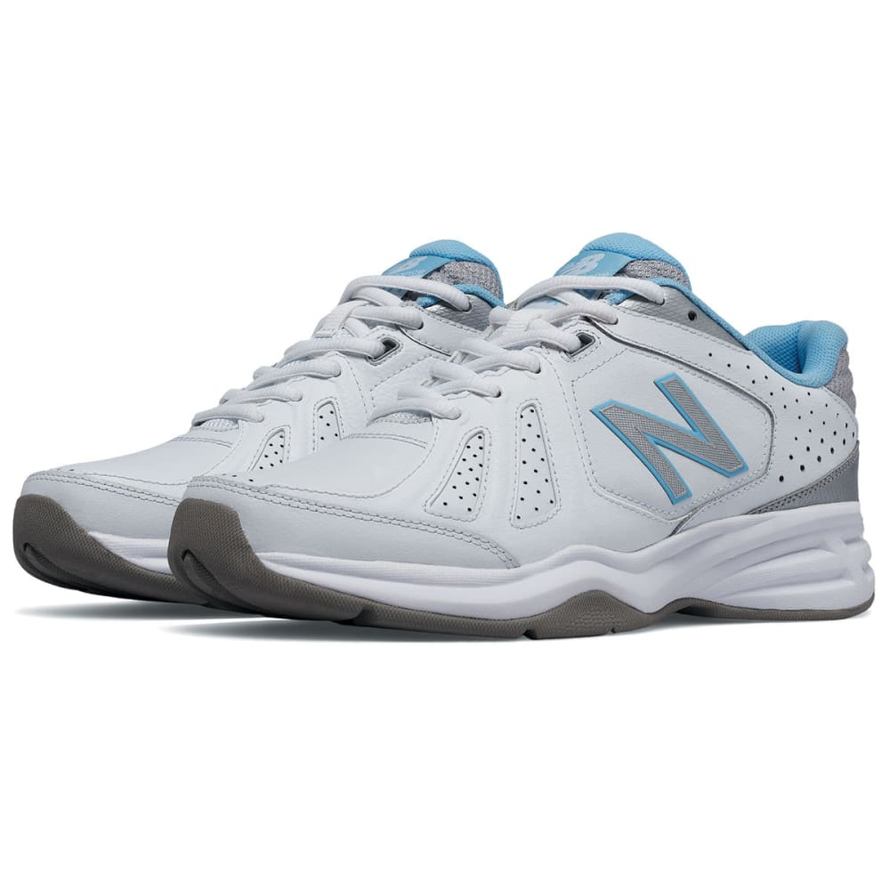 NEW BALANCE Women's 409V3 Training Shoes, Wide - WHITE.BLUE