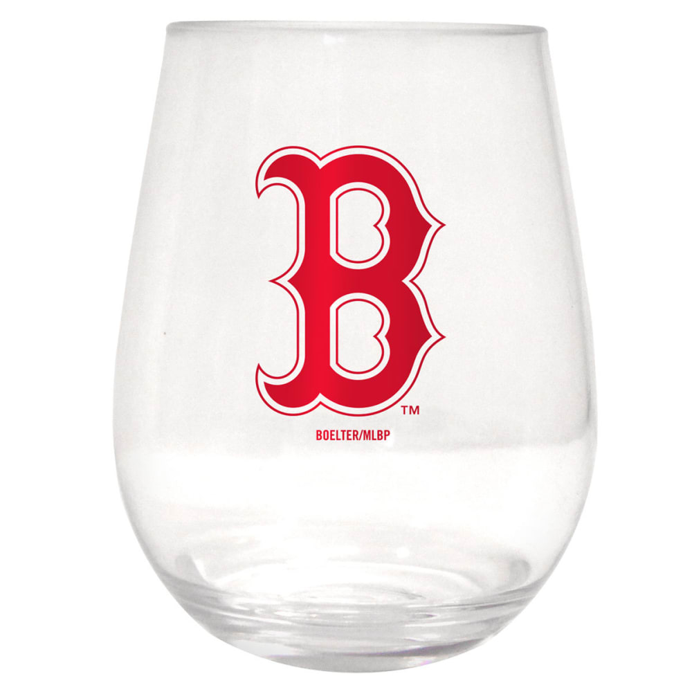BOSTON RED SOX Plastic Stemless Wine Glass - ASSORTED